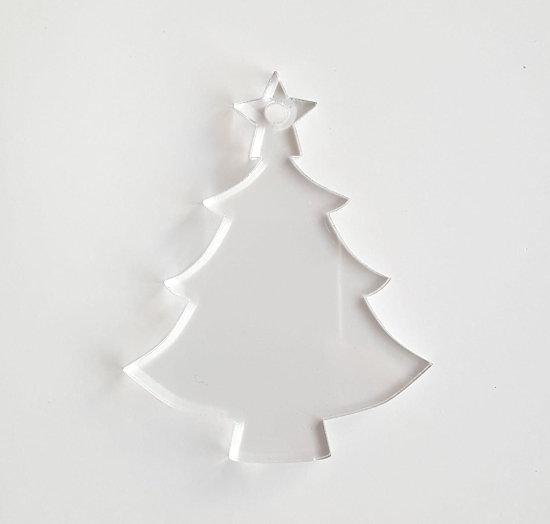 25 Acrylic Christmas Ornaments Blanks Tree Popular 8