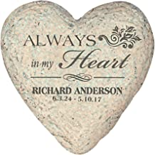 GiftsForYouNow Small Heart Personalized Memorial Garden Stone, 5.5