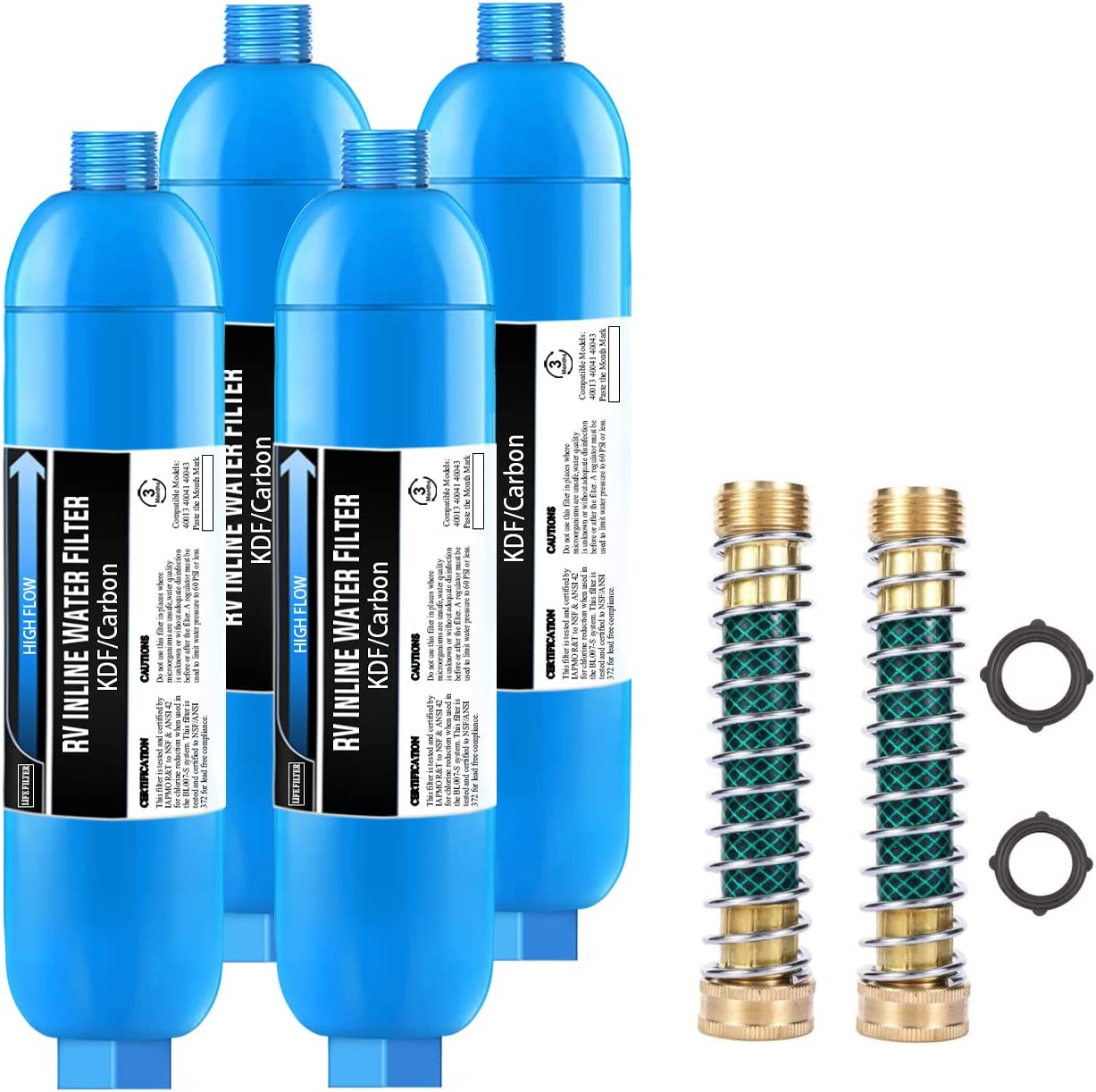 Lifefilter RV Inline Water Filter with Purchase Hose Flexible Protector safety