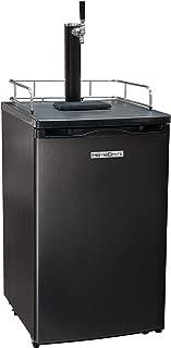 HomeCraft BK49BS Black Stainless Steel Full-Size Kegorator Draft Beer Dispenser & Beer Cooler, Spring-Loaded Tap Dispenser, Holds 1/6, 1/4, 1/2 Barrels, 2.5-Pound CO2 Tank, Single Meter Regulator