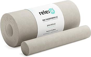 relexa 2-in-1 fasciarol, 2-delig zelfmassage-apparaat met uitneembare kern, gemiddelde hardheid, full-body foam roller, in...