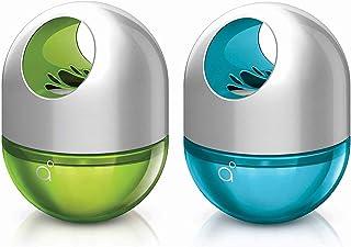 Godrej aer twist, Car Freshener (Car Perfume) - Cool Surf Blue & Fresh Lush Green (45g), Long-Lasting, Spill-proof