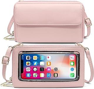 Handy Umhängetasche Damen Handtasche Touchscreen Handytasche mit Geldbörse zum Umhängen RFID Schutz Handy Geldbeutel Umhän...
