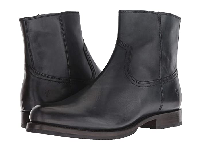 Mens Retro Shoes | Vintage Shoes & Boots Frye Sawyer Inside Zip Black Dip-Dye Leather Mens Zip Boots $149.48 AT vintagedancer.com