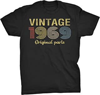 50th Birthday Gift T-Shirt - Retro Birthday - Vintage 1969 Original Parts