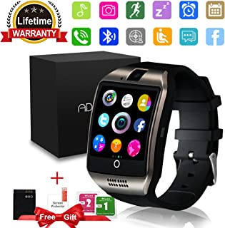 Smart Watch,Bluetooth SmartWatch with Camera Touchscreen,Smart Watches Waterproof Unlocked Phones Watch with SIM Card Slot,SmartWatches Compatible with Android Phone XS 8 7 6 Samsung (Q18) …