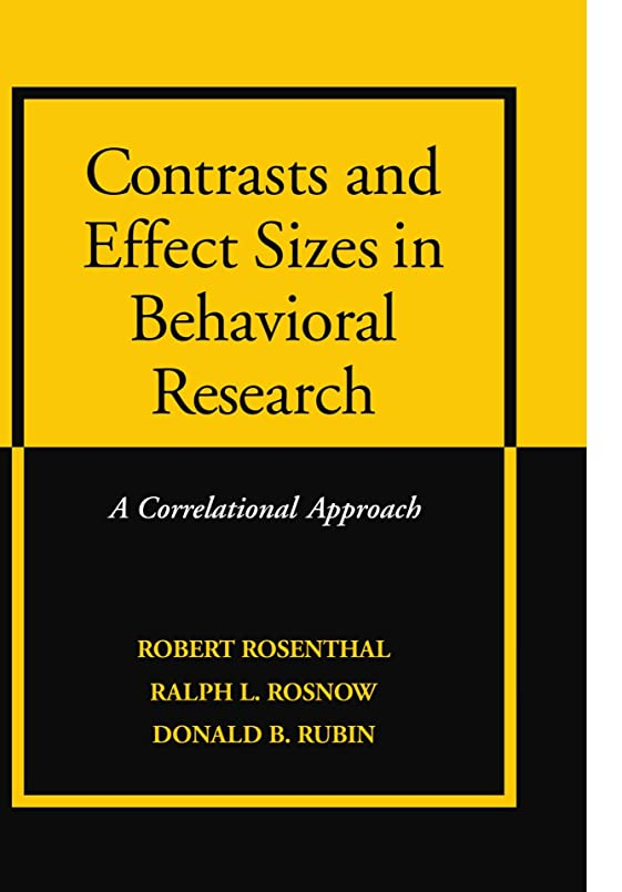 動脈月面おっとContrasts and Effect Sizes in Behavioral Research: A Correlational Approach