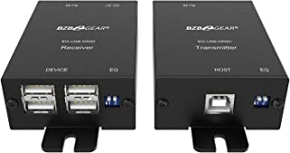 BZBGEAR 4-Port USB 2.0 Extender Over Single Cat5e/6/7 Cable up to 260FT