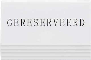 SECURIT Tableau Noir de Table en Plastique réservation, Supports, néerlandaise, réservé-Lot de 5