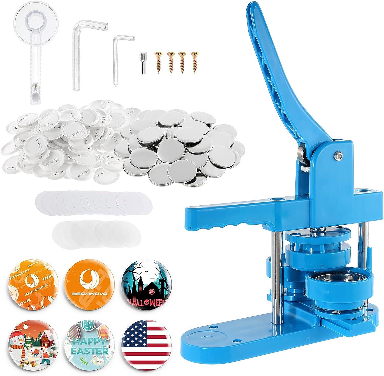BEAMNOVA Plastic Button Maker Machine Sale price with Latest item Parts 200 Supp