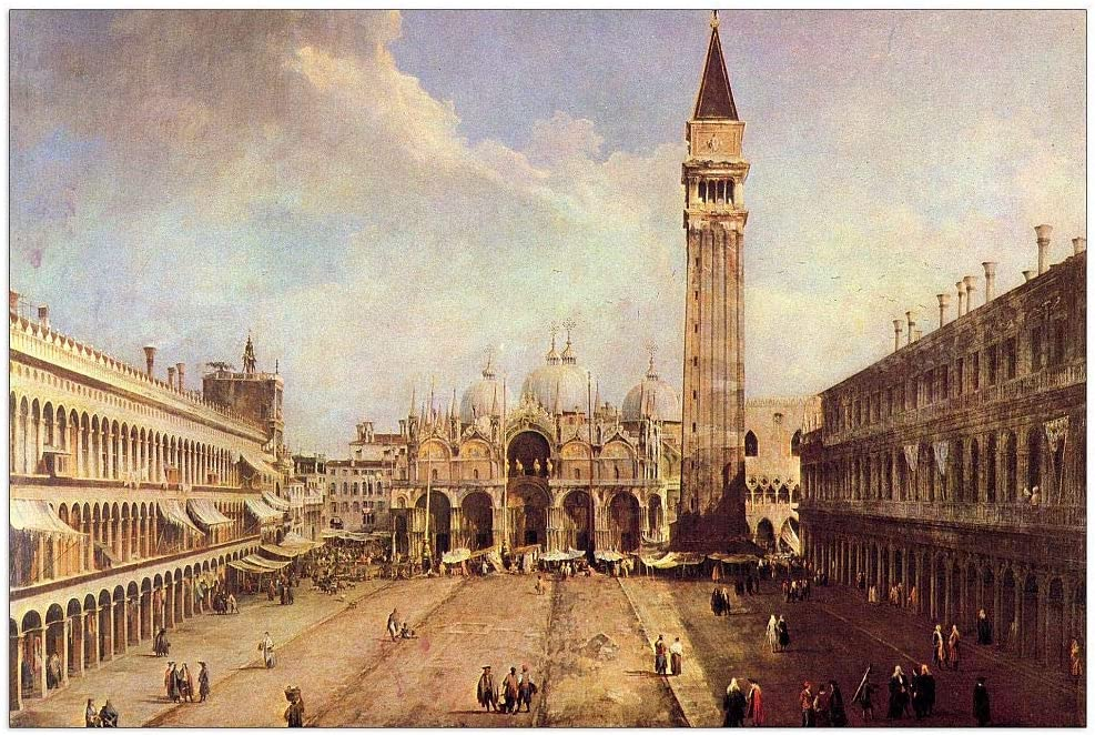 ArtPlaza Super beauty product restock quality top Canaletto - Max 46% OFF Piazza San Marco Decorative Panel 39.5x27.