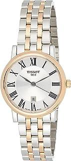 Tissot Womens Carson Swiss Quartz Stainless Steel Dress Watch (Model: T1222102203301), Silver