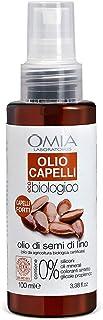 Omia Olio per Capelli Eco Bio Con Olio di Semi di Lino, Trattamento per Capelli Fragili con Azione Ristrutturante e Anti R...