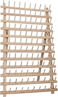 Threadart 120 Spool Cone Wood Thread Rack | Made of Hardwood, Sturdy, Freestanding or Wall Mount | 3 Sizes Available