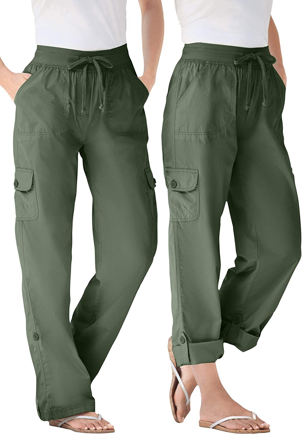 Woman Within Women's Plus Size Convertible Length Cargo Pant