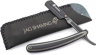 Jag Shaving Zwarte Professionele Rechte Cut Keel Razor Rvs Traditionele Kapper Scheren Mens Scheermes voor Perfect Scheren...