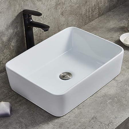 Deervalley Dv 1v031 Ceramic Rectangular White Bathroom Vessel Sink