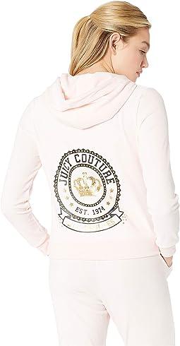 Glitter with Rhinstones Logo Hoodie