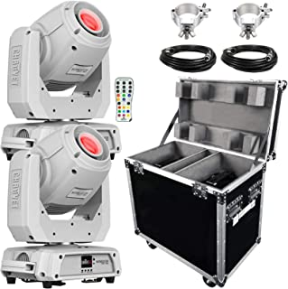 (2) Chauvet DJ Intimidator Spot 360 100 Watt Feature-Packed White Moving Heads with IRC-6 Infrared Remote Control Package