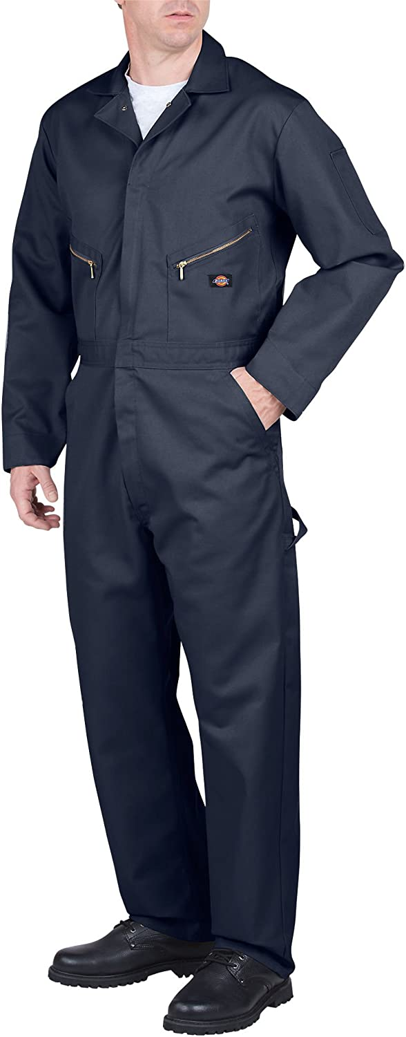 Dickies Men's Super Special SALE held Deluxe Long Sleeve Manufacturer OFFicial shop Blended Navy Dark Coverall X-