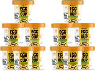 OvaEasy Egg in a Cup - Keto-Friendly, Nutrient-Rich All Natural Scrambled Eggs in a Microwave-Safe Cup, Made with Real Egg...