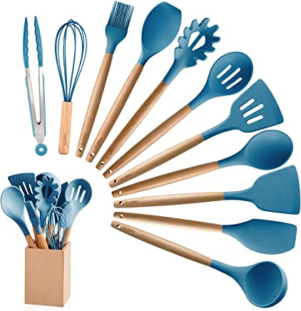 Amazon Com Blue Utensil Sets Cooking Utensils Home