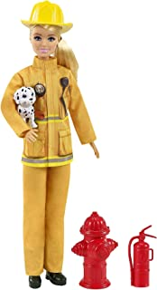 Barbie Firefighter Playset with Blonde Doll...