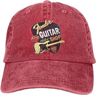 Yuanmeiju Gorra de Mezclilla Fender Since 1954 Stratocaster Unisex Vintage Jeans Baseball Hat Adjustable Denim Cap Trucker...