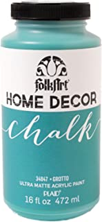 FolkArt 34847 Home Decor Chalk Furniture & Craft Paint in Assorted Colors, 16 ounce, Grotto