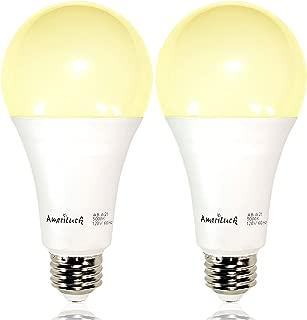 AmeriLuck 50/100/150W Equiv. A21 LED 3-Way Light Bulb 2200 Lumens 2700K Soft White (2 Pack)