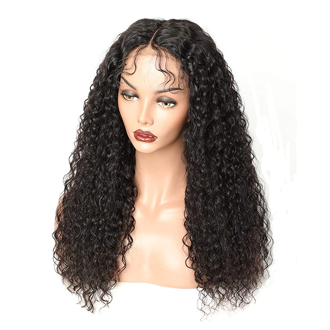 Curly Lace Front Wig With Baby Hair Brazilian Lace Front Human Hair Wigs For Black Women Remy Hair Lace Wig 150% Density,Natural Color,18inches,150%