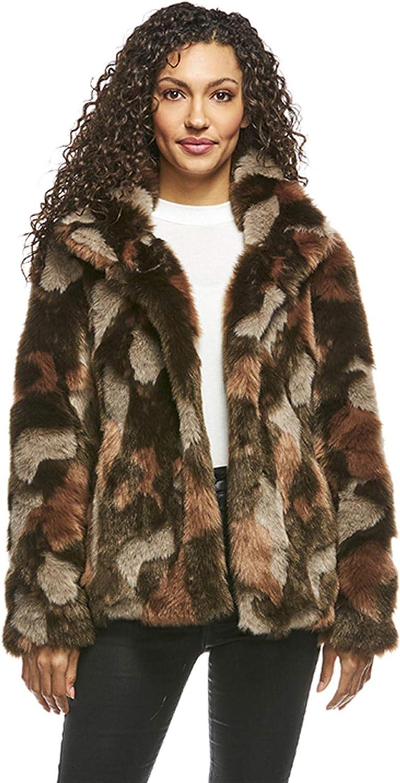 Camo Faux Fur Every-Day Mink Jacket (S) (Camo)