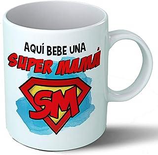 Planetacase Taza Mama - Aquí Bebe Una Super Mama - Regalo