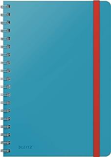 Leitz Blok w linie, w dużym formacie B5, 80 arkuszy, wiązany spiralnie, delikatny niebieski, seria Cosy, 45270061