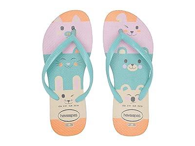 Havaianas Kids Slim Fun Flip-Flop (Toddler/Little Kid/Big Kid) (Beige) Girls Shoes
