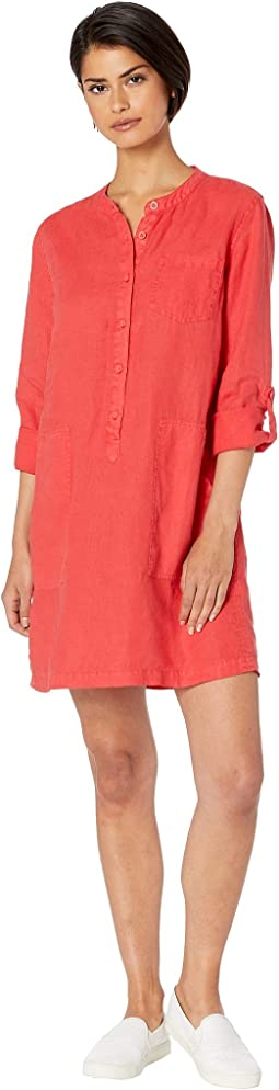 Molly Woven Linen Long Sleeve Shirtdress