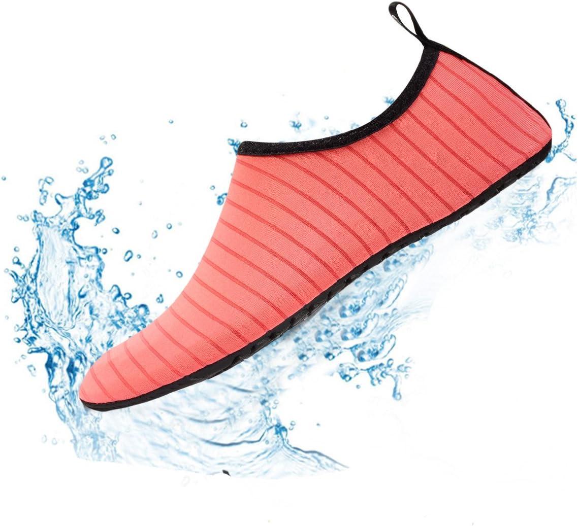 FIRSTLIKE Men Women Skin Water Shoes Aqua Beach Socks Yoga Pool