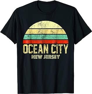 Ocean City New Jersey NJ Vintage Retro Sunset Tee T Shirt