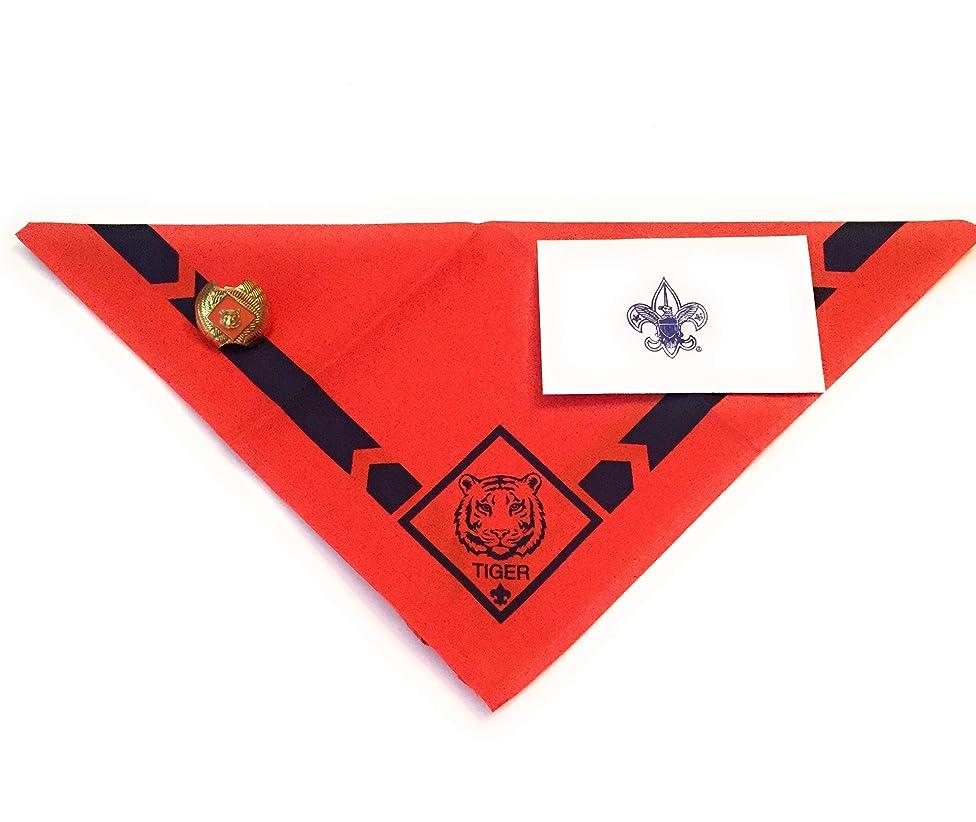 Cub Scout Tiger Neckerchief With Slide - Official BSA Uniform Apparel