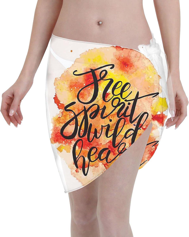 niBBuns Women Short Sarongs Beach Wrap Sheer Bikini Wraps Cover Ups for Swimwear
