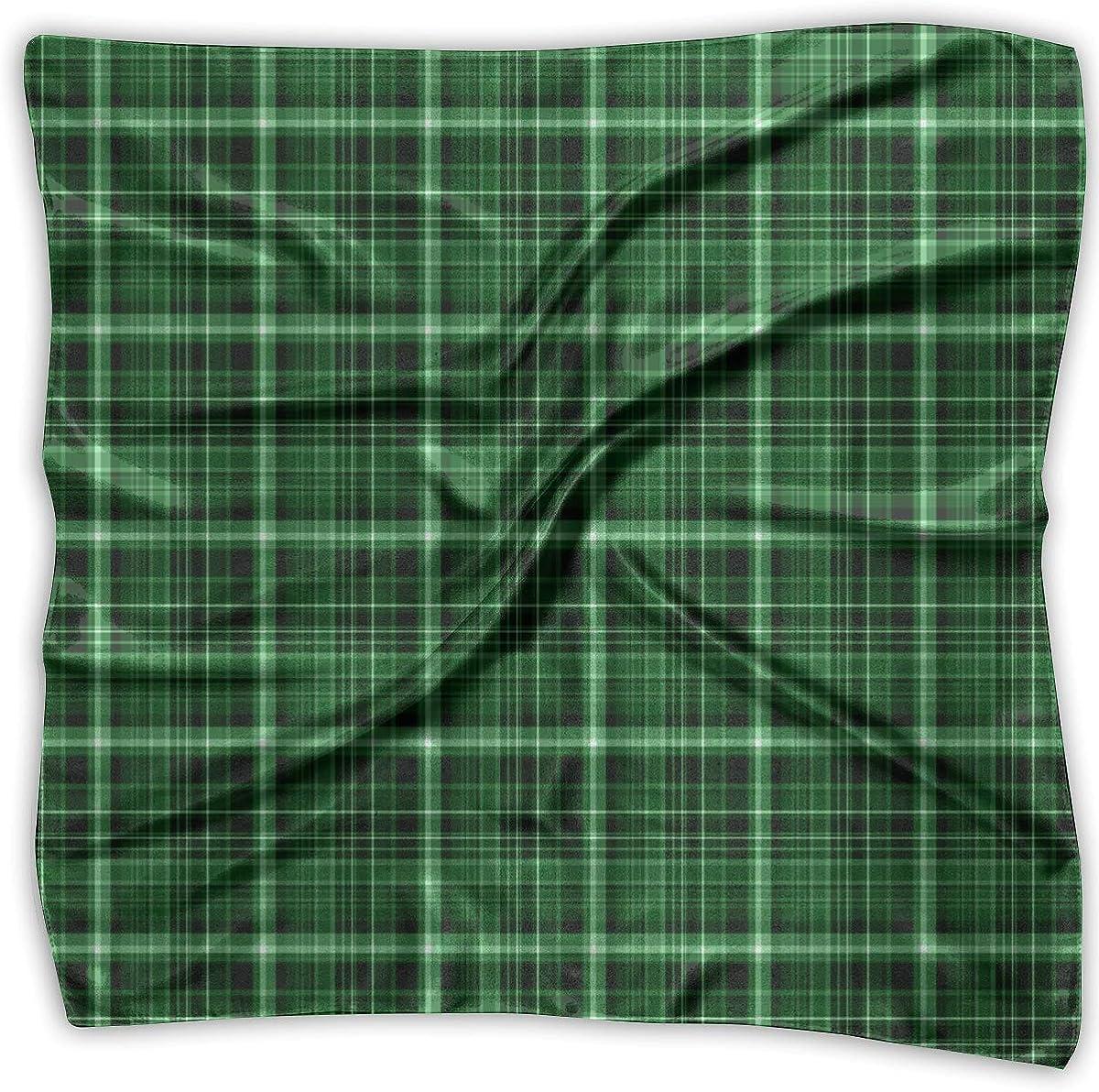 Scarf Tartan Fabric Pattern Ladies Square Silk Max 53% OFF Satin Banda Low price