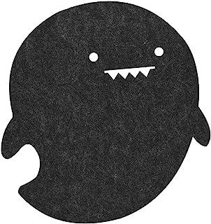 Fosa ドルフィンシェイプ静電気防止フェルトテーブルマウスパッド オフィス/ホームなどに対応 防塵デスクパッド(ダークグレー)