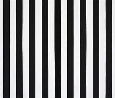 HKMIU RSH Décor Set of 2 Indoor/Outdoor Decorative Lumbar/Rectangle Pillows - Black and White Stripe