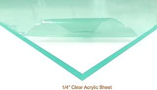 Clear Acrylic Plexiglass Sheet - 1/4
