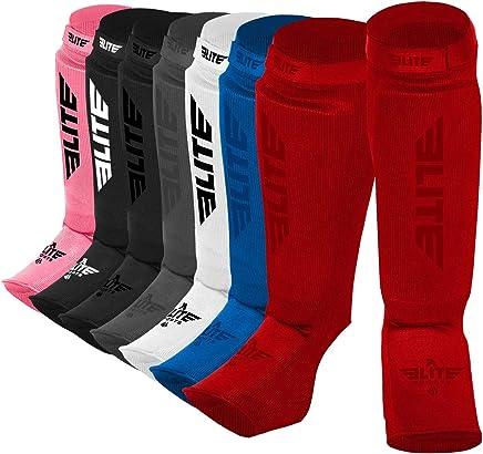 Elite Sports Protective Kickboxing, MMA, Muay Thai Shin & Instep Guards Leg Pad Training Protective Gear Washable