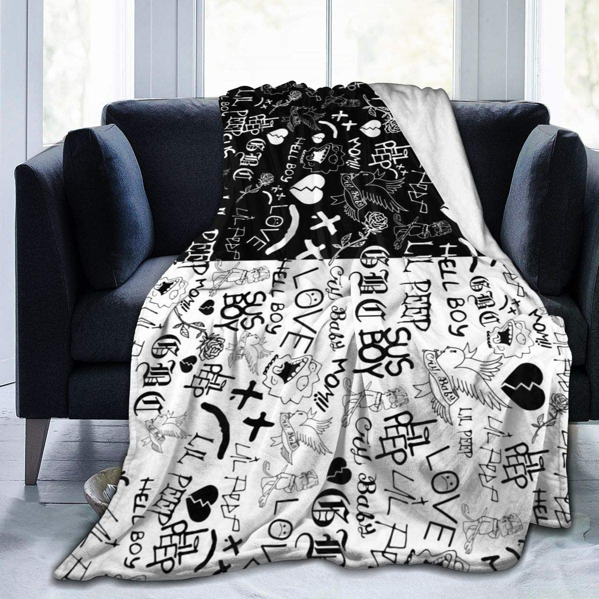 Special price for a limited time Sale Special Price JLOVE Lil Peep Blanket Soft Micro Throw Fleece Couc Cozy