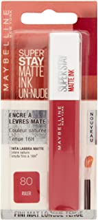 Maybelline New-York – Rouge à Lèvres Mat Liquide – Longue Tenue – Superstay Matte Ink – Teinte : Ruler (80), 5 ml
