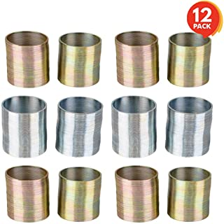 ArtCreativity Metal Coil Spring (12 Pack)   1 Silver and Gold Metal Coil Spring Set   Fun Birthday Party Favors for Kids, ...