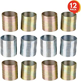 ArtCreativity Metal Coil Spring - 12 Pack - 1 Inch Silver and Gold Metal Coil Spring Set - Fun Birthday Party Favor for Kids, Cute Coil Spring Prize, Goody Bag Fillers, Stocking Stuffers, Novelty Gift