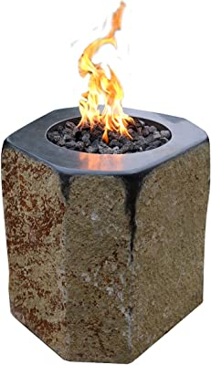 Derby Natural Basalt Gas Fire Pit Natural Stone Garden Patio Amazon De Garten